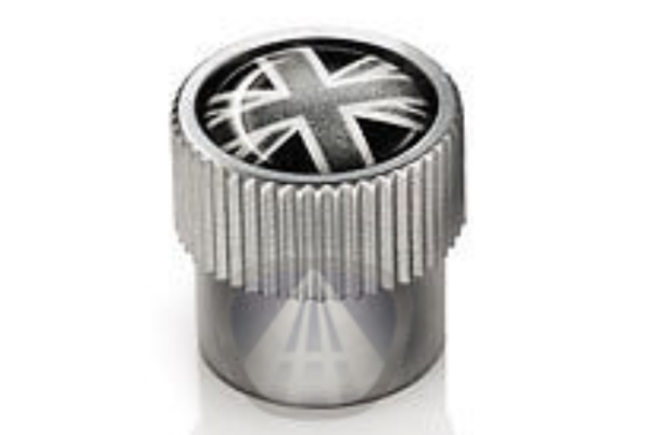 Jaguar Valve Stem Caps - Black Union Jack